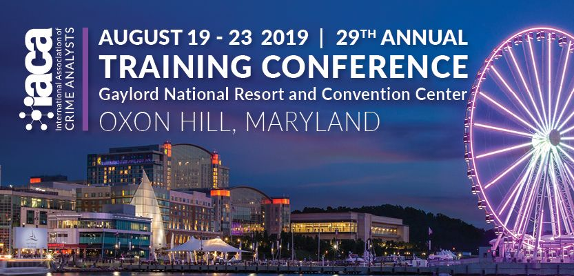 Exhibiting at the 2019 International Association of Crime Analysts (IACA) conference